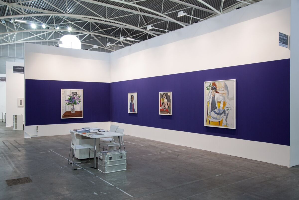 Installation view of Alice Neel at Aurel Scheibler's booth at Artissima, 2015. Photo by Malcolm Varon, courtesy of the Estate of Alice Neel.