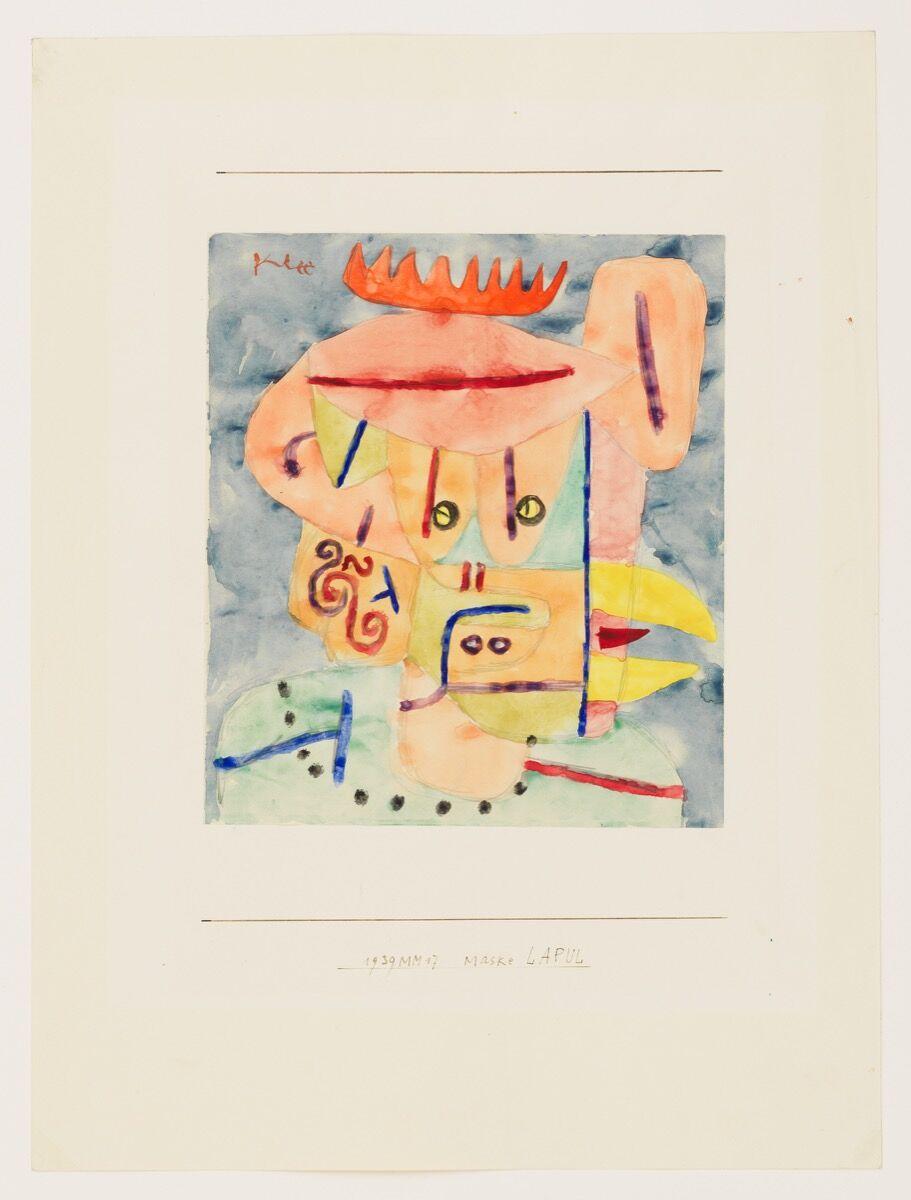 """Paul Klee, Maske LAPUL (""""Mask: Lapul""""), 1939. © Klee Family. Courtesy of David Zwirner."""