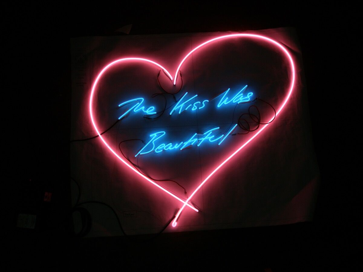Tracey Emin, The Kiss Was Beautiful, 2013. Courtesy of Let There Be Neon.
