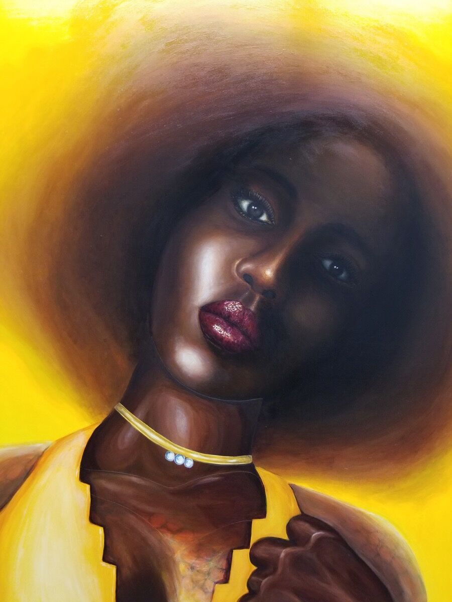 Vaughn Spann, A portrait of my sweet sunflower, 2018. Courtesy of the artist and Almine Rech Gallery.