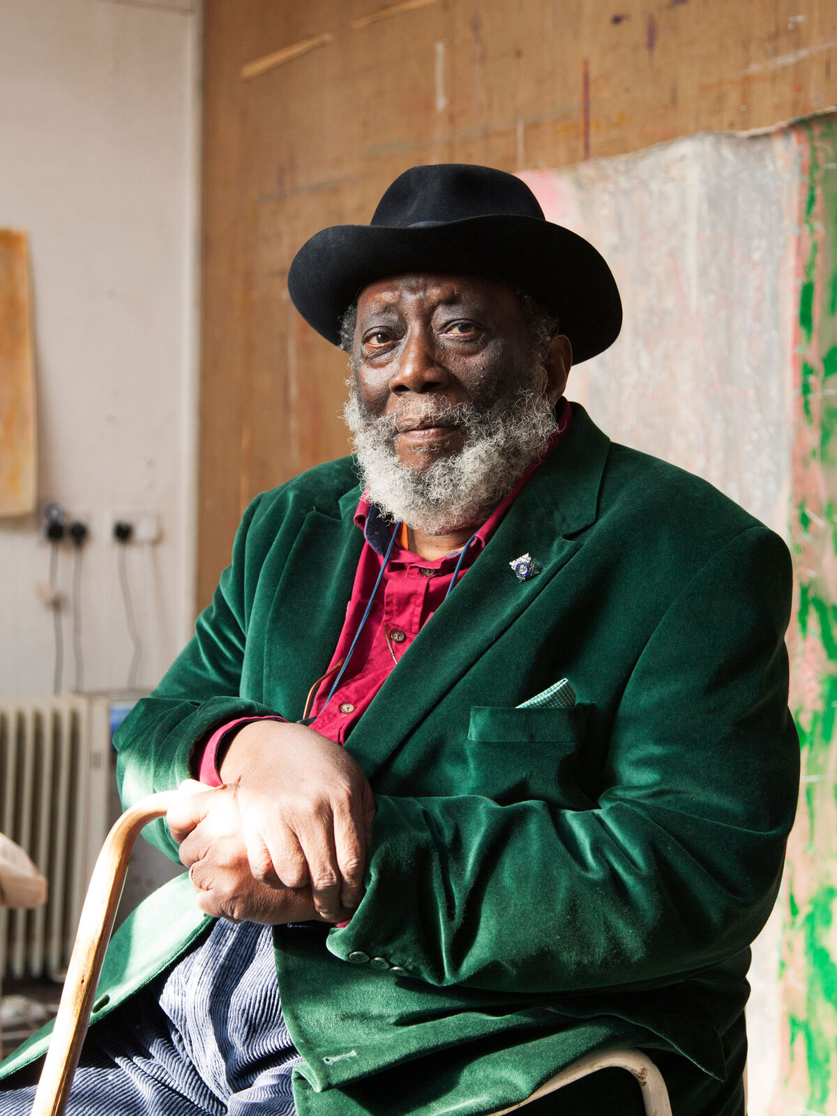 Frank Bowling by Alastair Levy, 2017. © Alastair Levy.