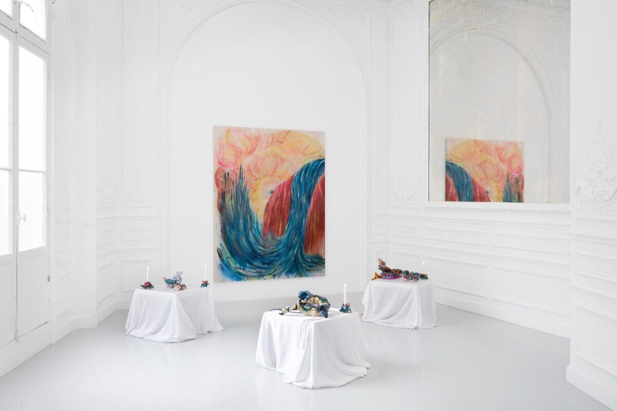 "Installation view of ""Borderlinking"" at High Art, 2020. Courtesy of High Art, Paris."