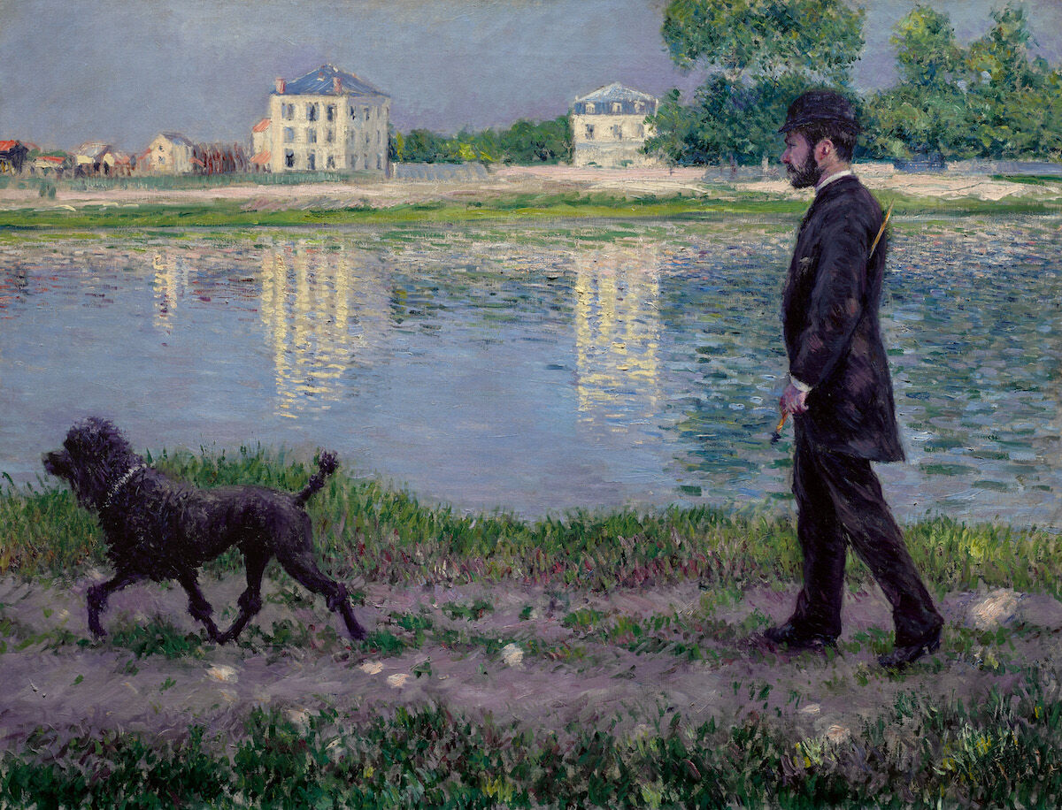 Gustave Caillebotte, Richard Gallo et son chien Dick, au Petit-Gennevilliers, 1894. Sold for $19.6 million. Courtesy of Sotheby's.