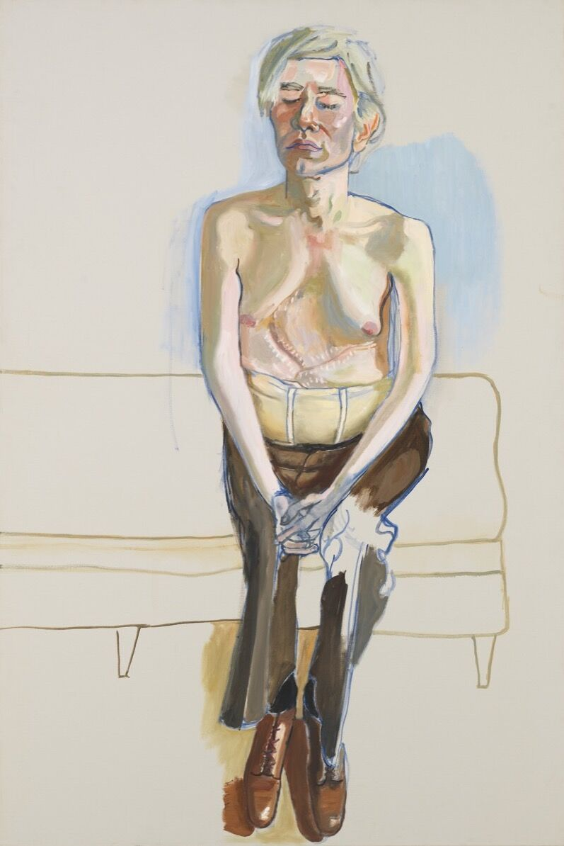 Alice Neel, Andy Warhol, 1970. © The Estate of Alice Neel. Photo © 2019. Digital Image Whitney Museum of American Art / Licensed by Scala.