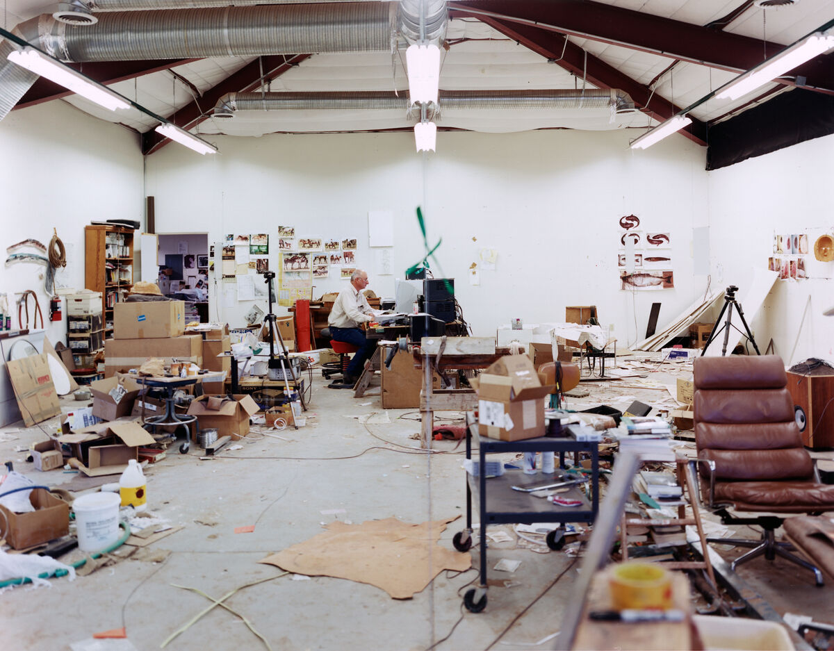 Portrait of Bruce Nauman in his studio in New Mexico by Jason Schmidt. Courtesy of Jason Schmidt.