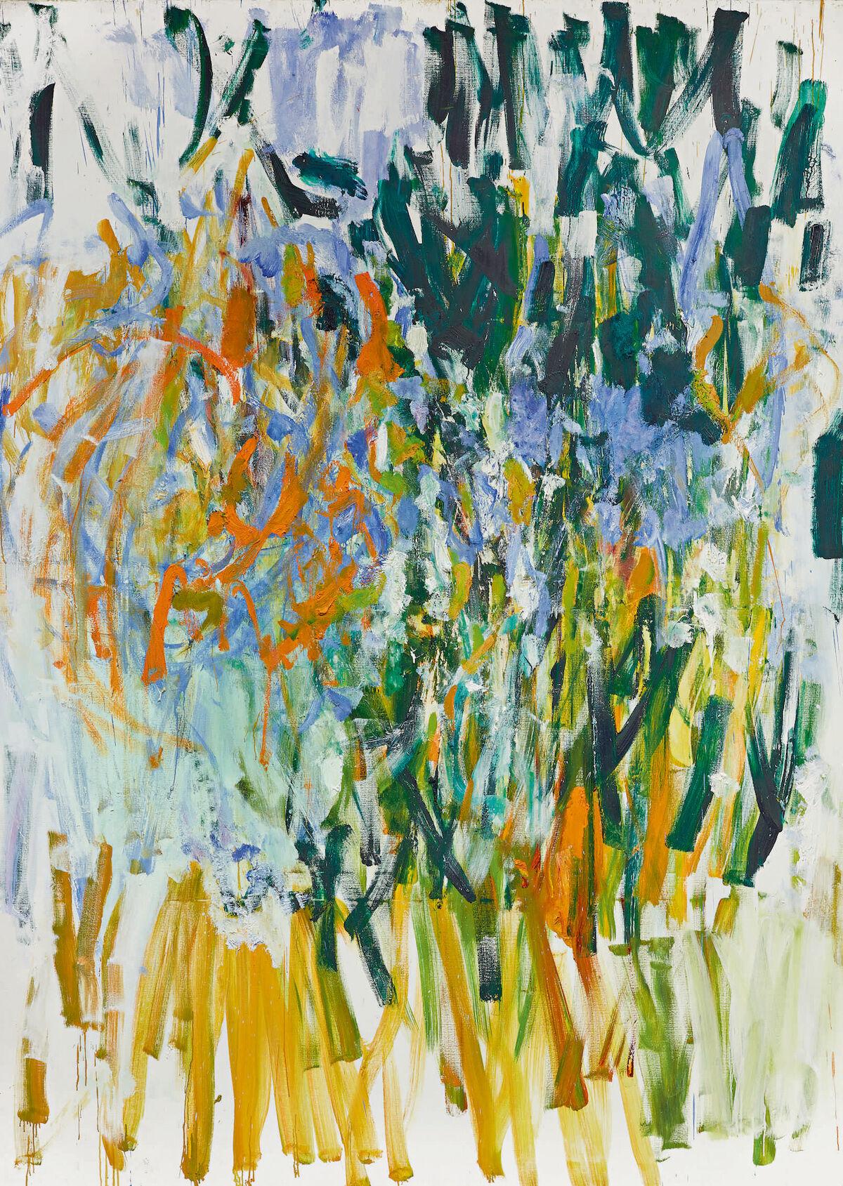 Joan Mitchell, Straw, 1976. Est. $5 million–$7 million. Courtesy Sotheby's.