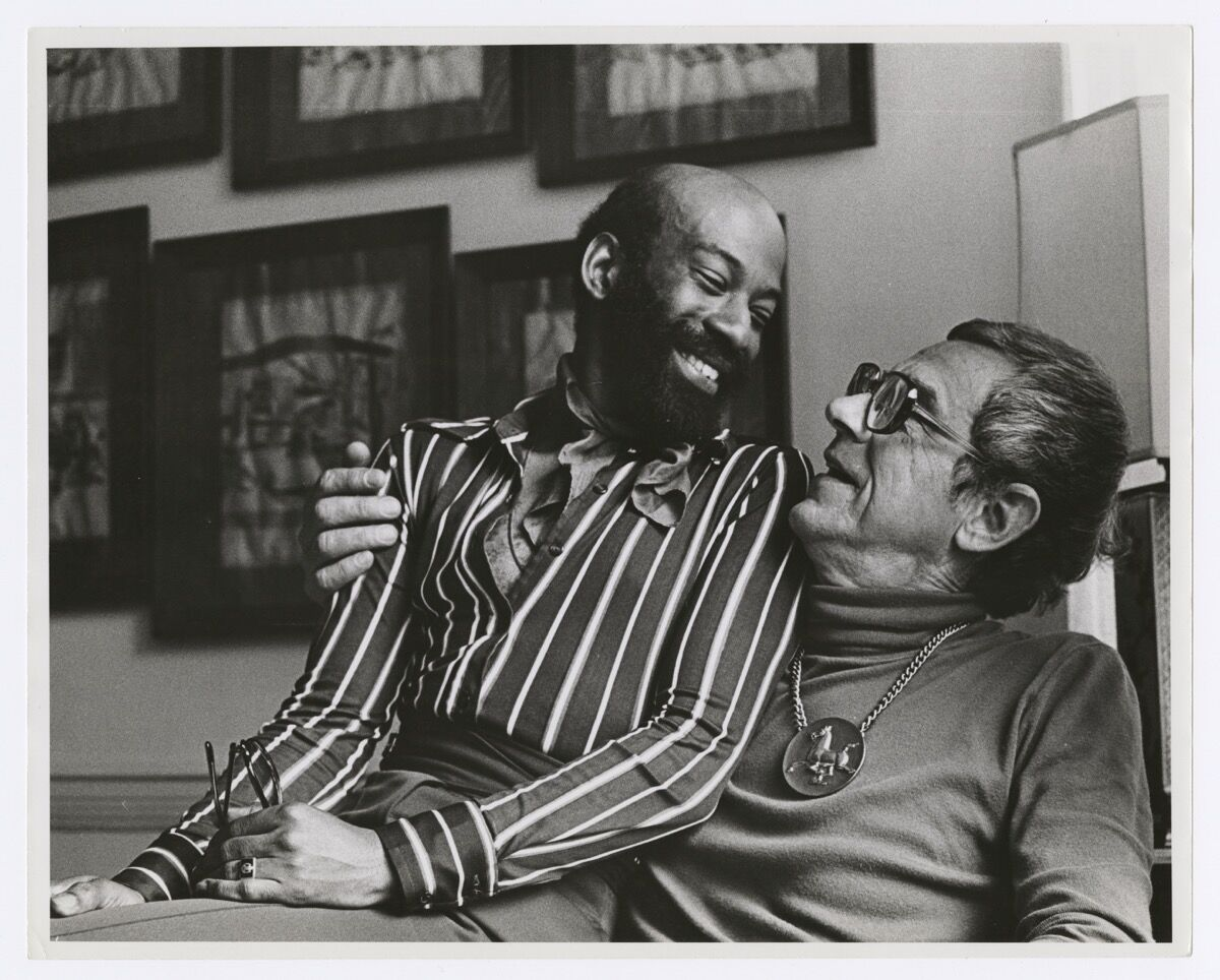 Kay Tobin Lahusen, Jamen Butler (left) and Tom Malim, 1971. Courtesy of New York Public Library, Manuscripts and Archives Division.