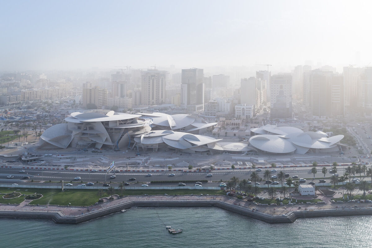 Aerial view of the National Museum of Qatar. Photo © Iwan Baan.