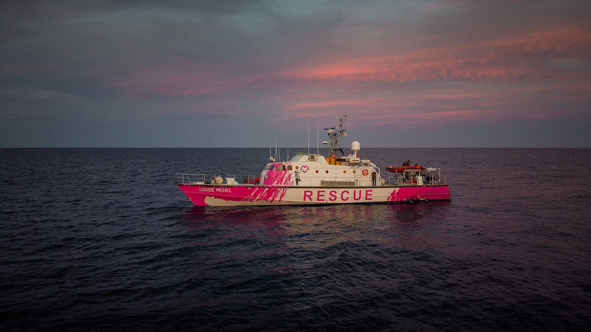 The rescue ship Louise Michel. Courtesy Louise Michel.