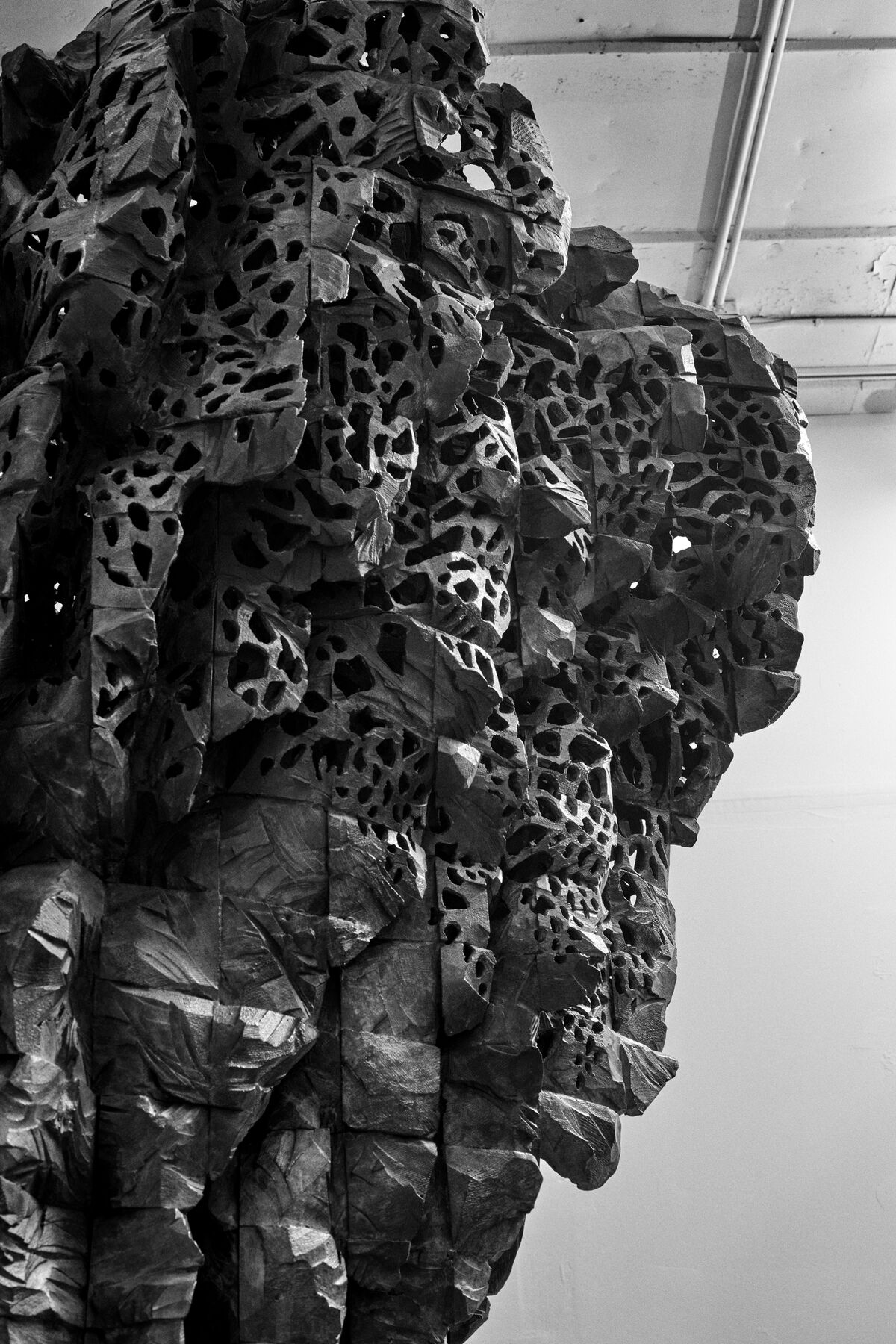 Detail of work by Ursula von Rydingsvard. Photo by Alex John Beck for Artsy