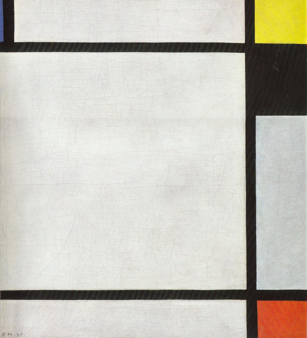 Piet Mondrian, Tableau N VII, 1925. Kunstmuseen Krefeld, via Wikimedia Commons.