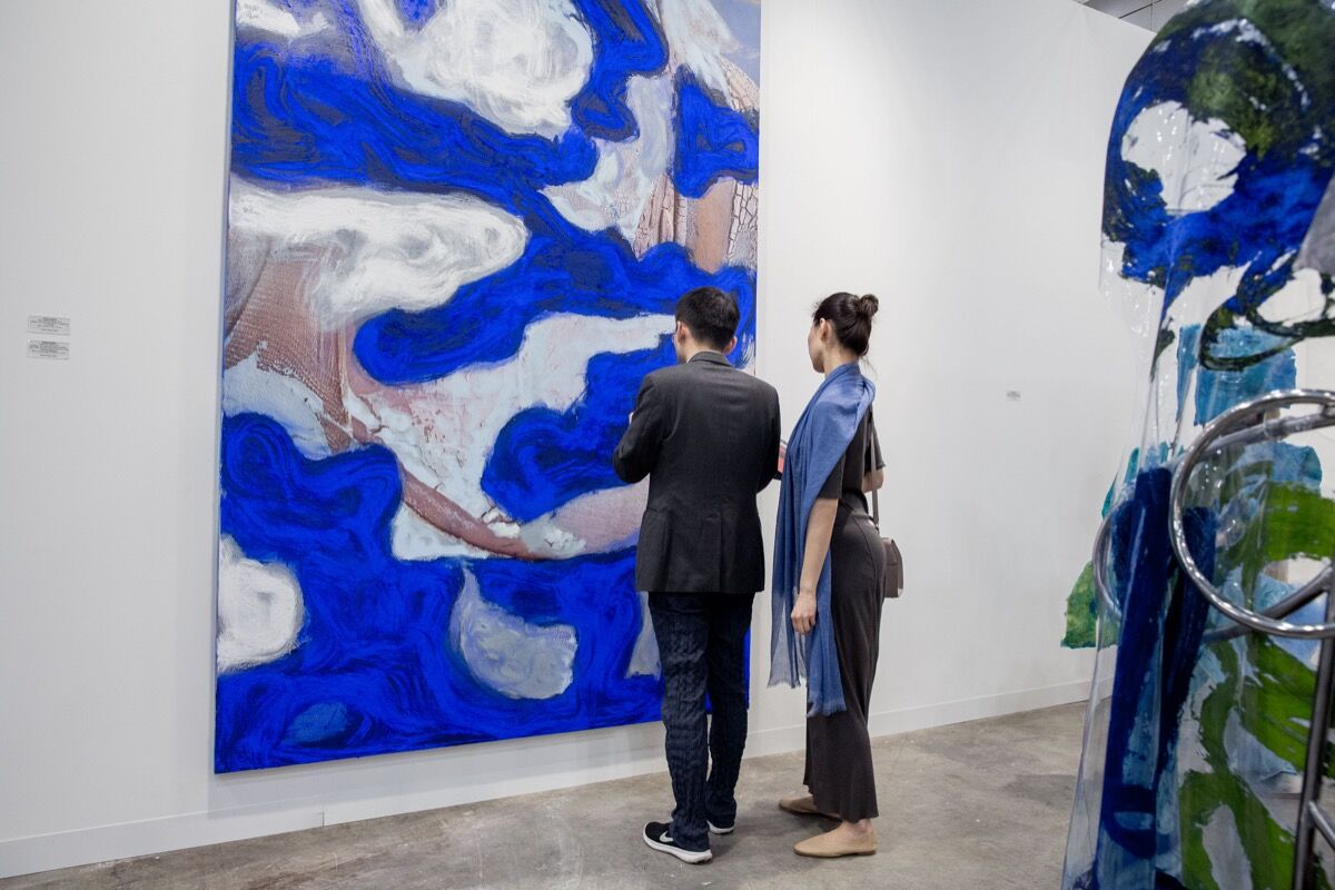 Installation view of Peres Projects's booth at Art Basel in Hong Kong, 2017. Courtesy of Art Basel.
