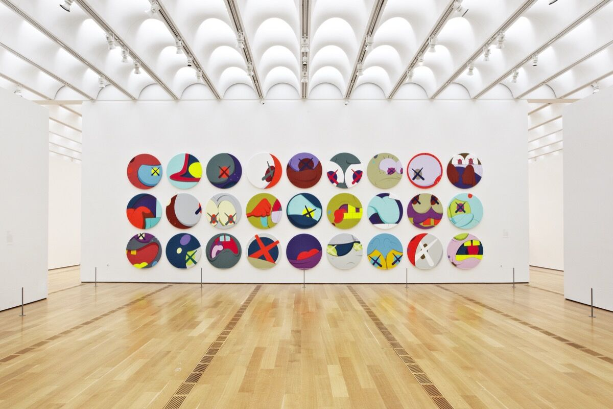 Installation view of KAWS, GONE AND BEYOND, at The High Art Museum, 2012. Photo by Adrian Gaut Courtesy of the artist.