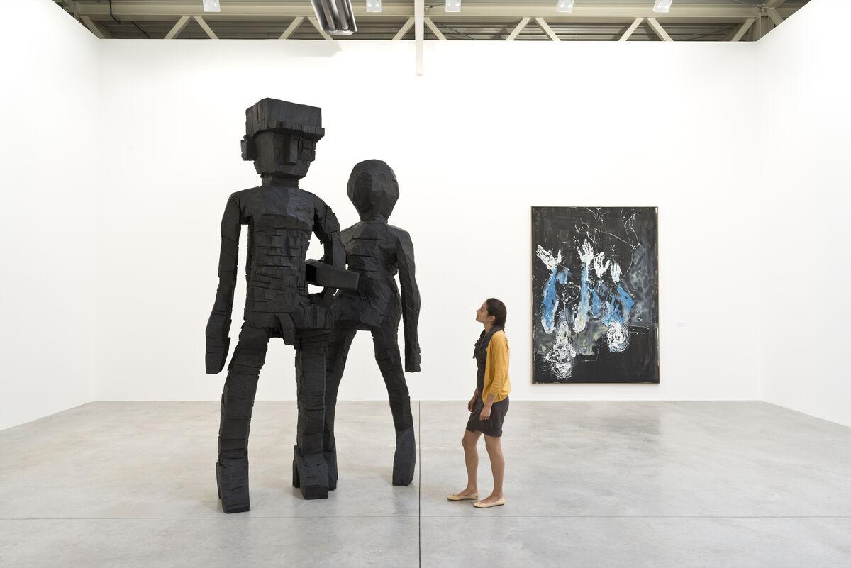 "Installation view of Georg Baselitz, ""Das Negativ — New Paintings,"" at Galerie Thaddaeus Ropac, Villa Kast, Salzburg, 2012. Courtesy of Galerie Thaddaeus Ropac."