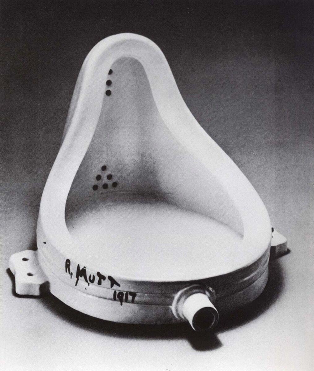 Image of Marcel Duchamp's Fountain, 1917, via Wikimedia Commons.