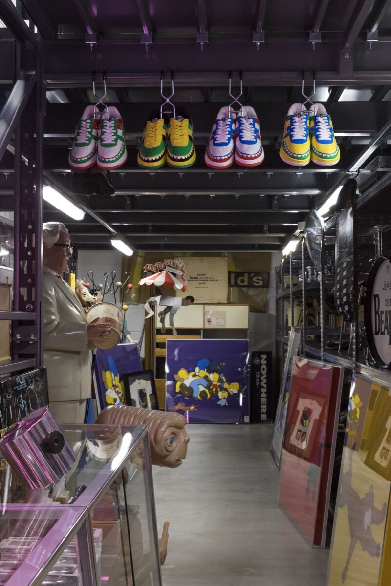 Interior of NIGO®'s studio where he houses his archive and collection. ©Sotheby's.