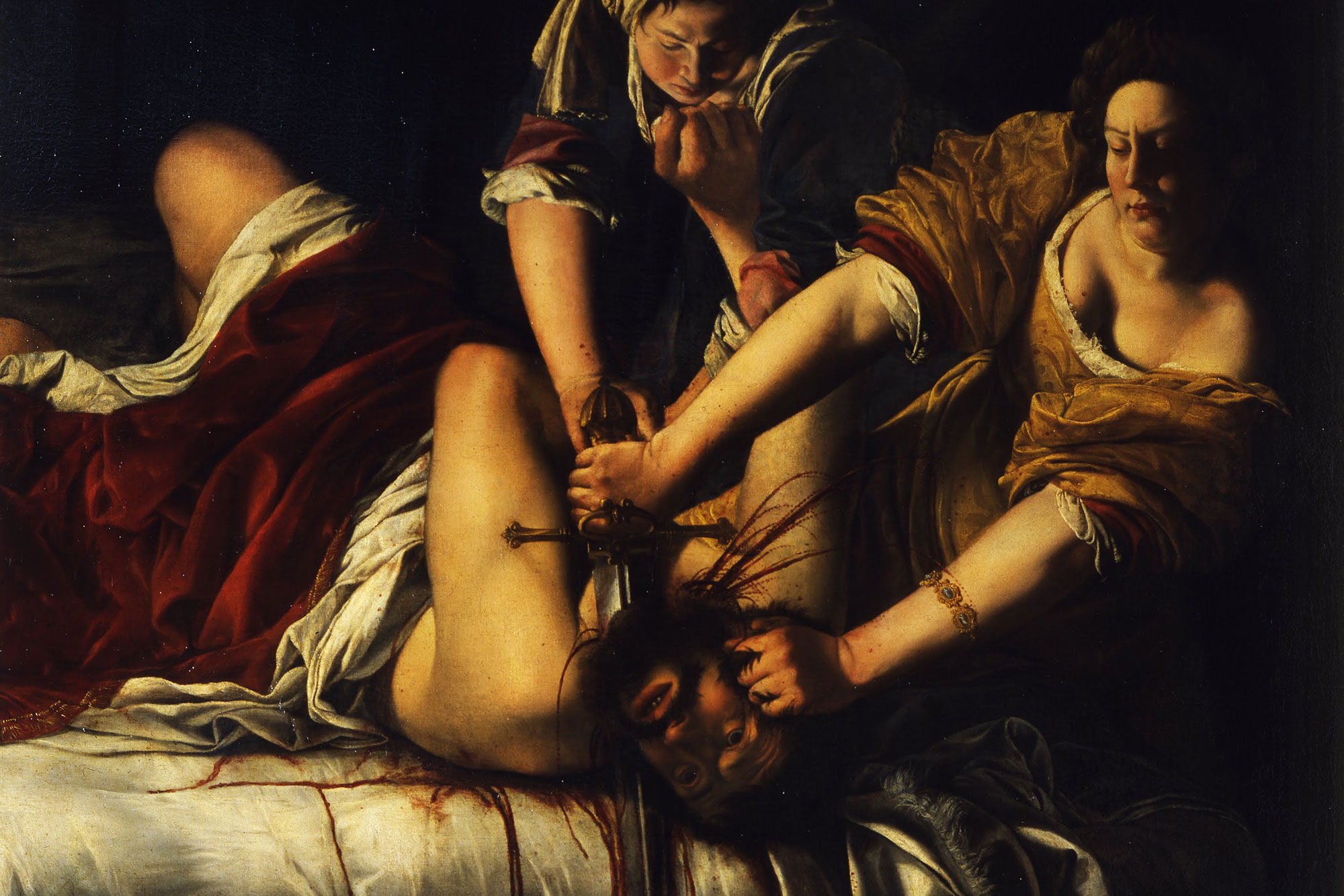 Detail of Artemisia Gentileschi, Judith and Holofernes, ca. 1620. Courtesy of Uffizi Gallery, Florence.