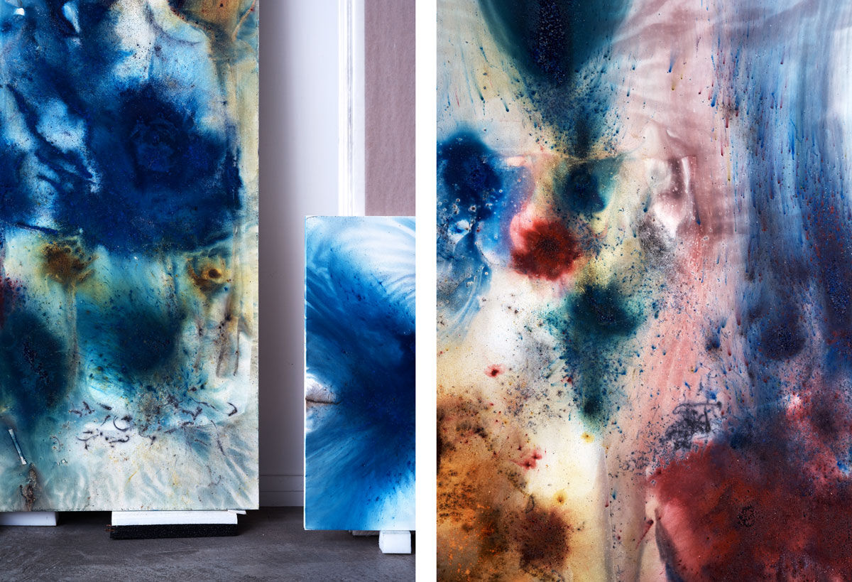 Details of Cai Guo-Qiang's work in his East Village studio. Photographs by Alex John Beck for Artsy.