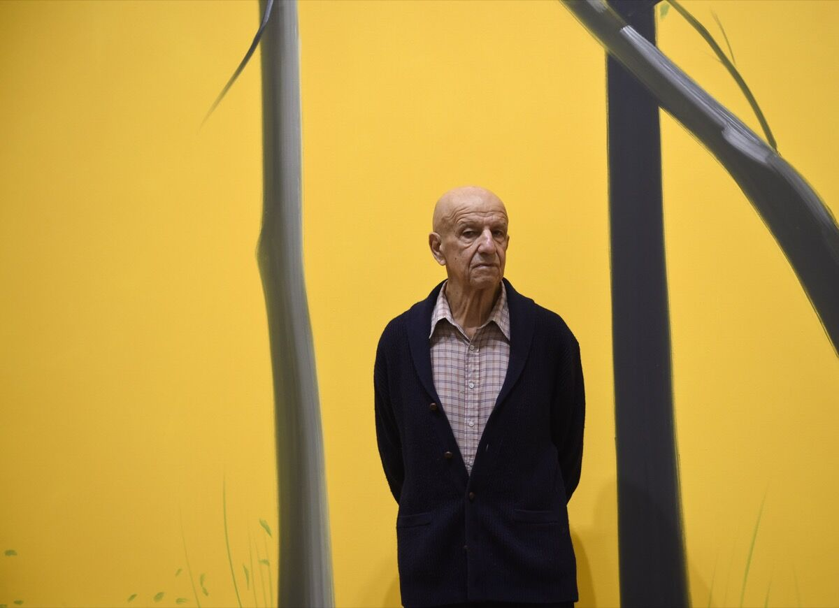 Portrait of Alex Katz. Photo by Ander Gillenea/AFP/Getty Images.