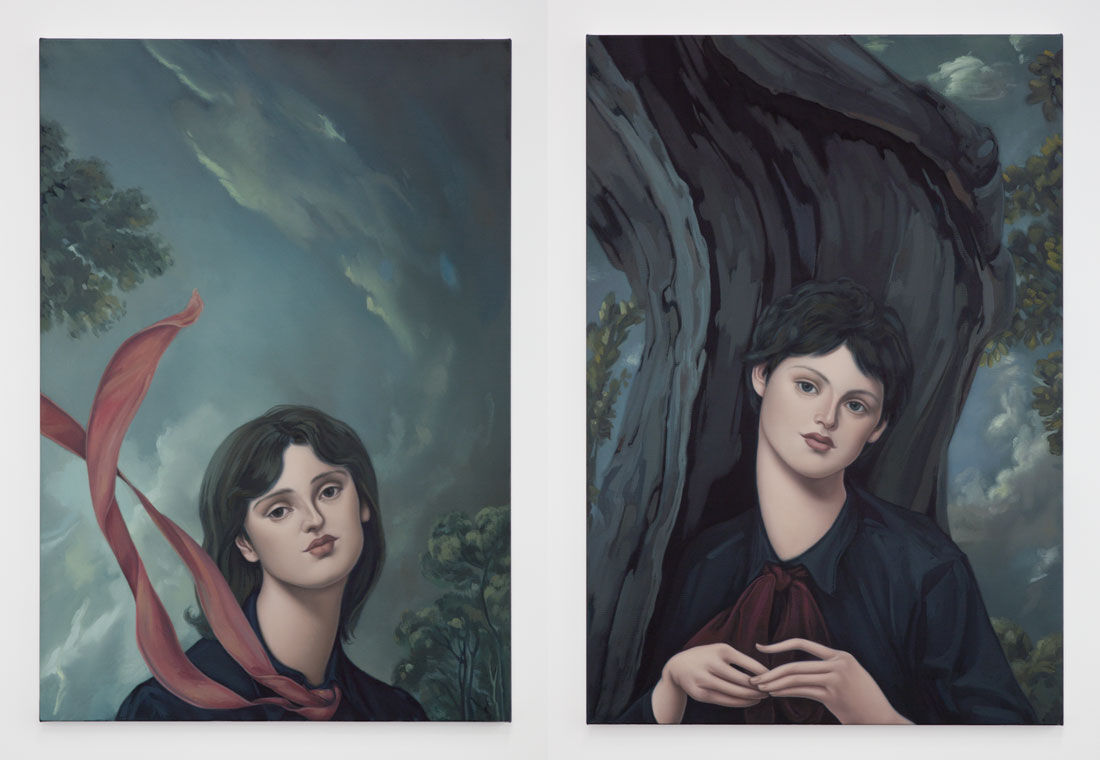 Left: Jessie Mockrin, The Stroll, 2016; Right: Jessie Mockrin, Twisted, 2016. Photos courtesy of Night Gallery.