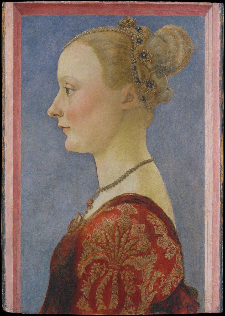 Piero del Pollaiuolo, Portrait of a Woman, ca. 1480. Courtesy of the Metropolitan Museum of Art.