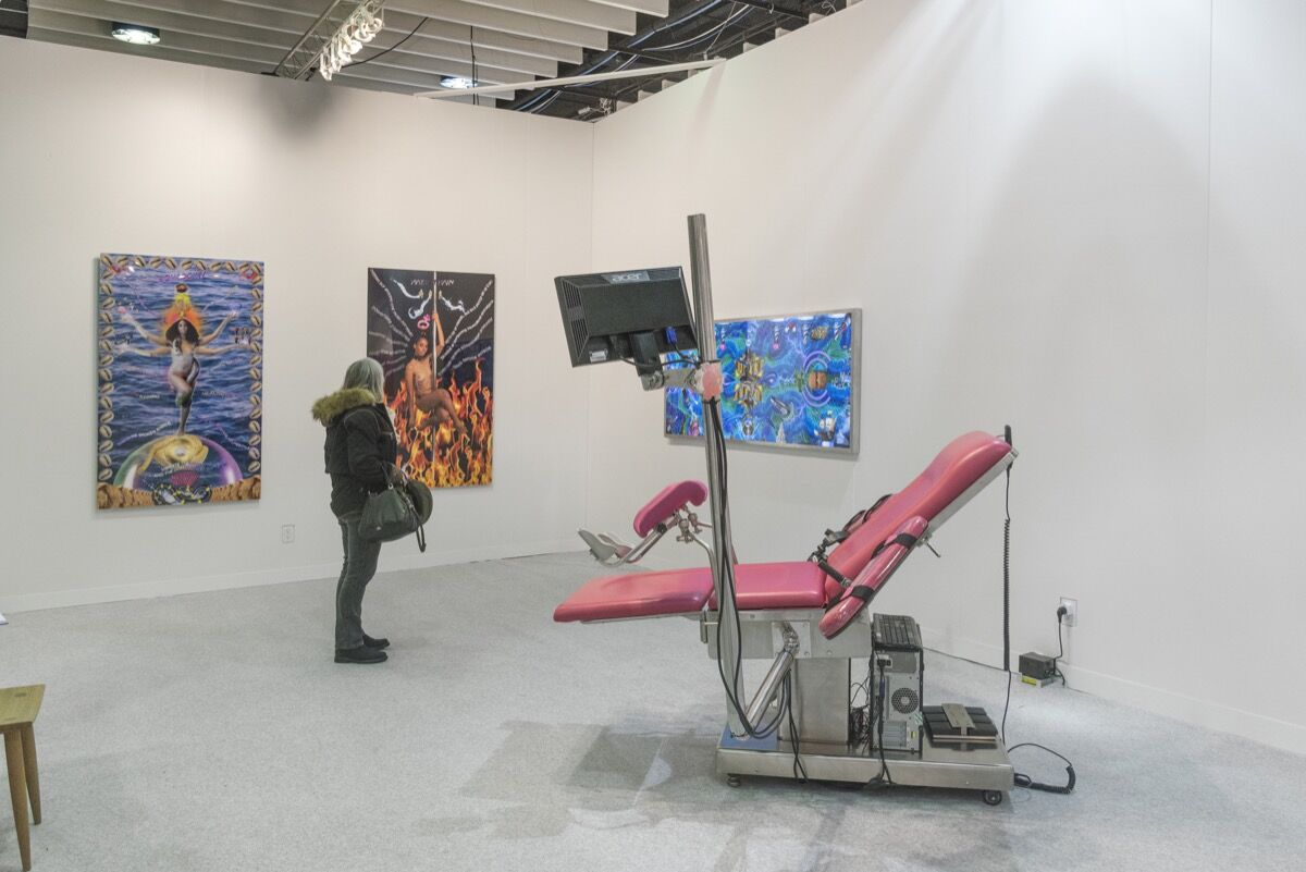Installation view of Goodman Gallery's booth at The Armory Show, 2018. Photo by Adam Reich for Artsy.