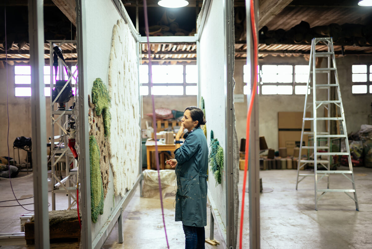 Alexandra Kehayoglou in her Buenos Aires studio. Photo by Camilla Blousson at Martin Rietti studio.