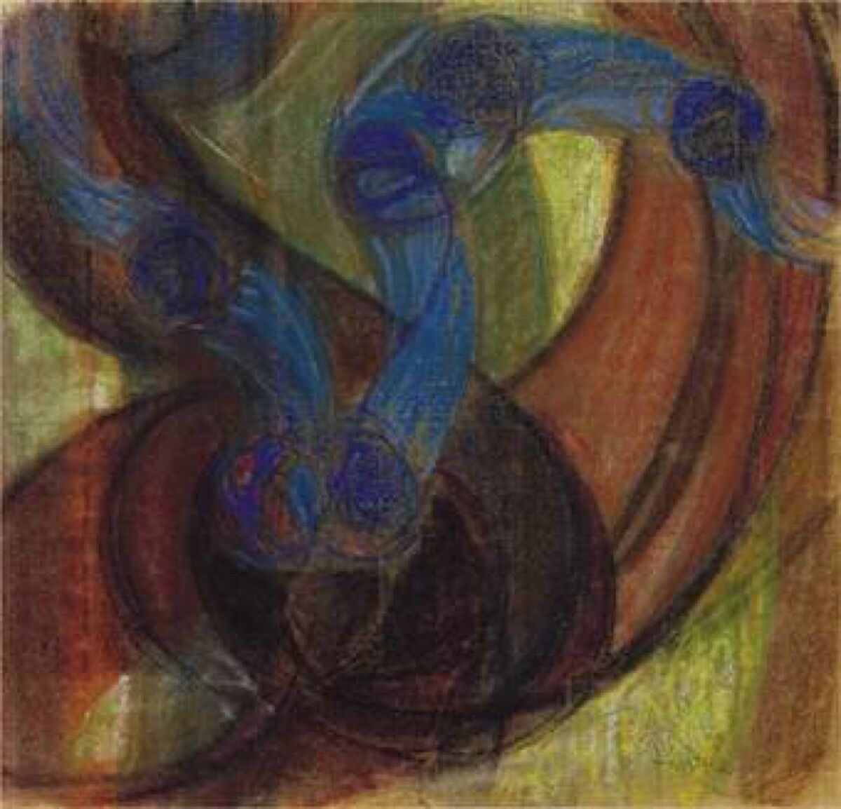 František Kupka Study for Amorpha, Warm Chromatic and for Fugue in two colors; Study for The Fugue, 1910–11. The Solomon R. Guggenheim Foundation Peggy Guggenheim Collection, Venice, 1976. © 2017 Artists Rights Society (ARS), New York/ADAGP, Paris.