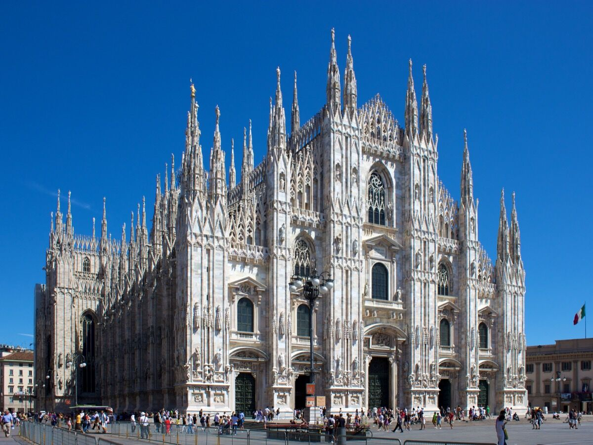 Milan Cathedral, 1386–1965. Image via Wikimedia Commons.