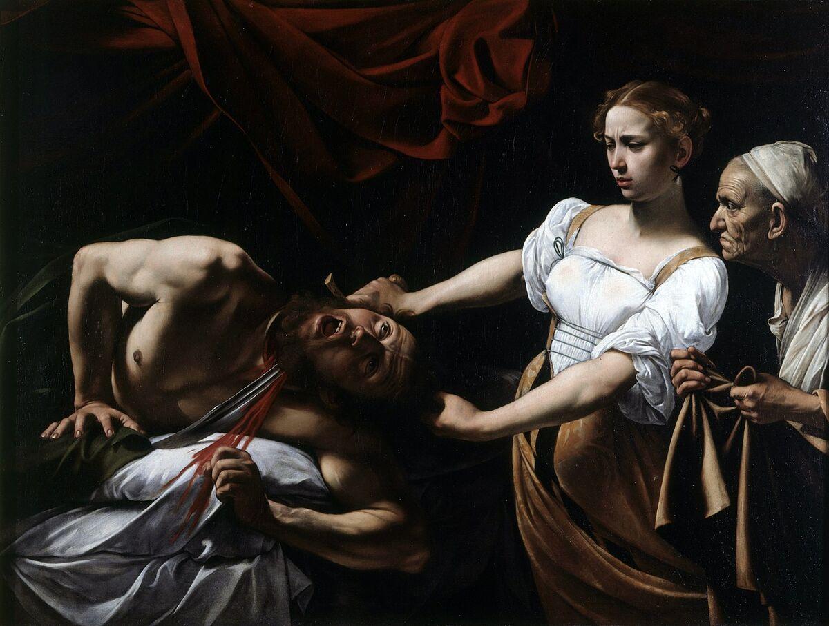 Caravaggio, Judith Beheading Holofernes, ca. 1599. Image via Wikimedia Commons.