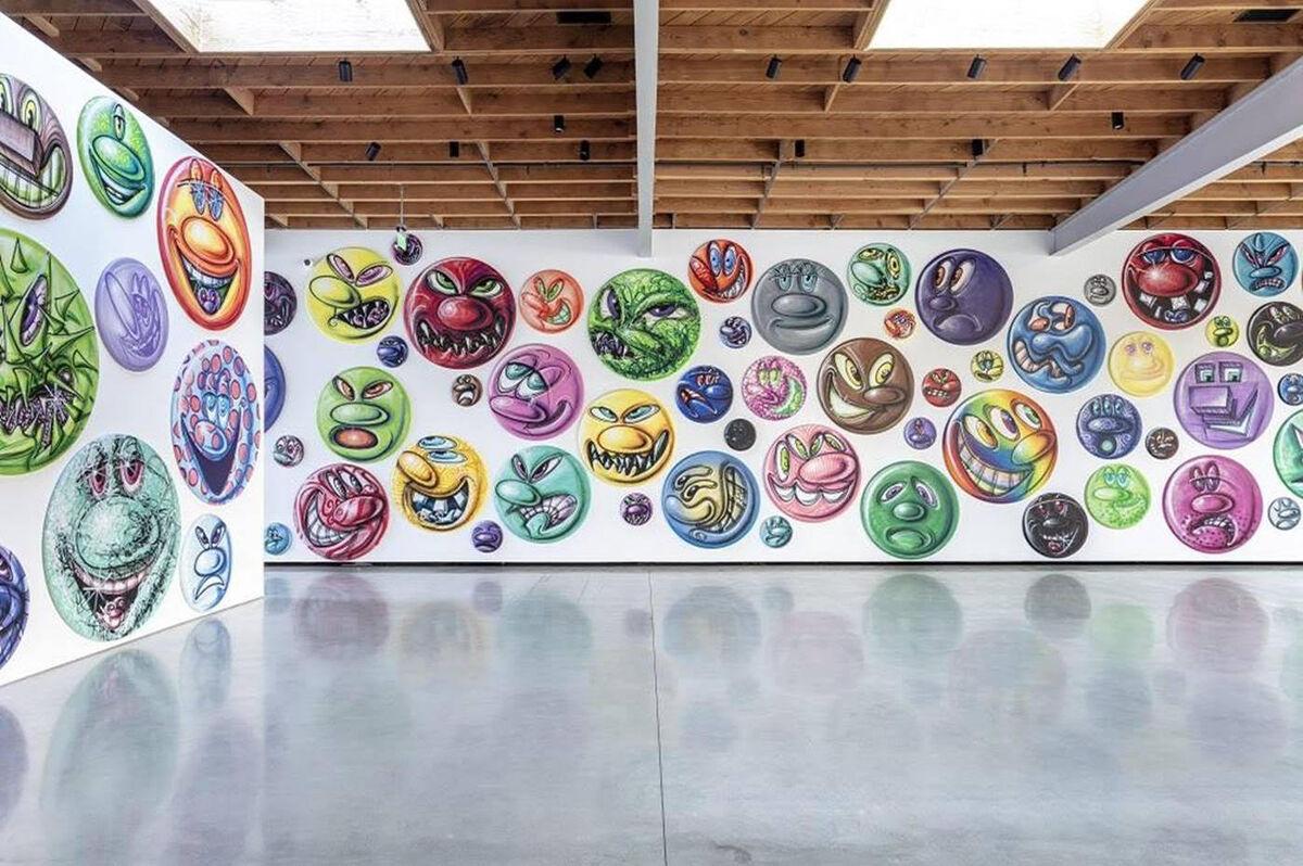 """Kenny Scharf, installation view of """"MOODZ"""" at Jeffrey Deitch, Miami, 2020. Courtesy of Jeffrey Deitch."""