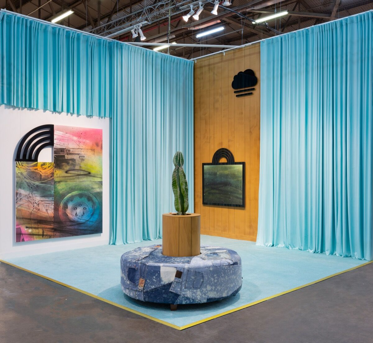 Wendy White, installation view in Shulamit Nazarian's booth at The Armory Show, New York, 2020. Courtesy of the artist and Shulamit Nazarian, Los Angeles.