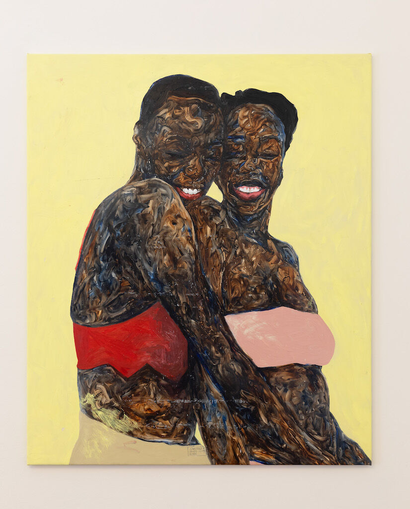 Amoako Boafo, Libby and D-Lee, 2019. Courtesy of the artist and Roberts Projects, Los Angeles, California.