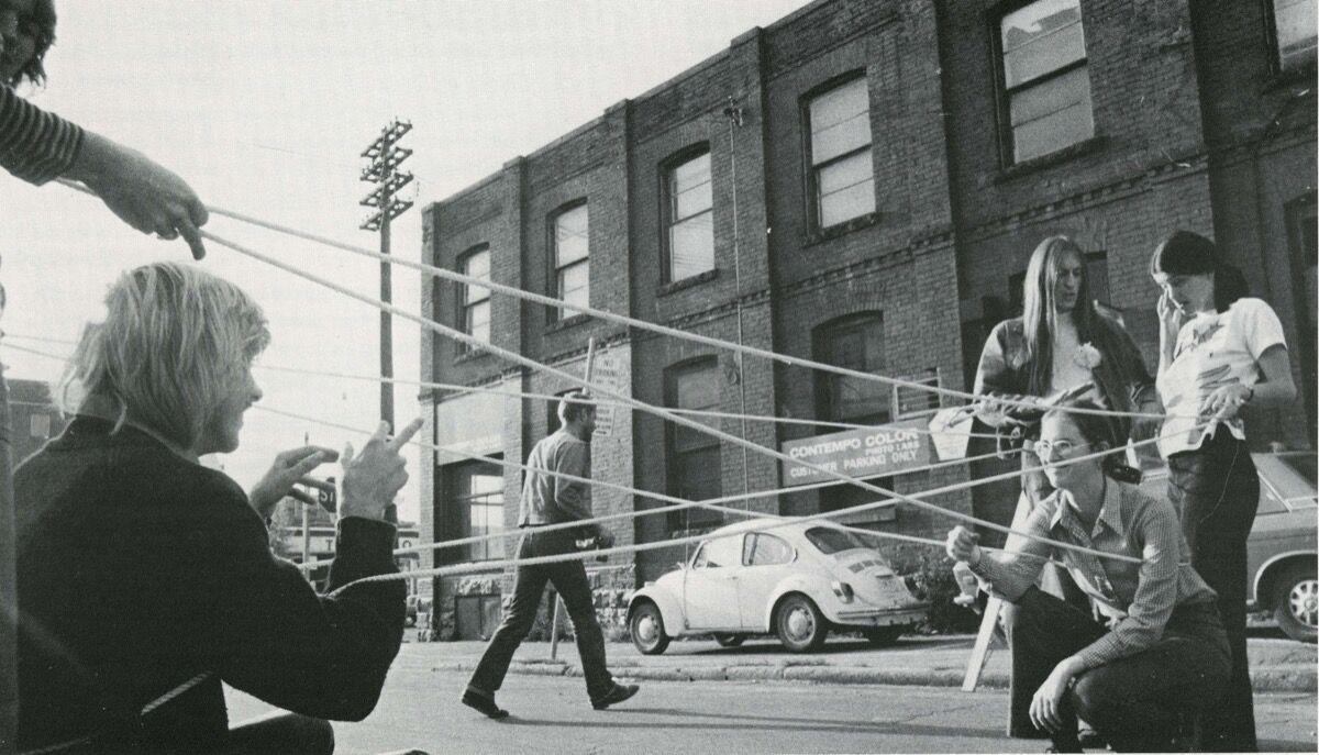 Vera Frenkel, String Games: Improvisations for Inter-City, 1974. Courtesy of the artist.