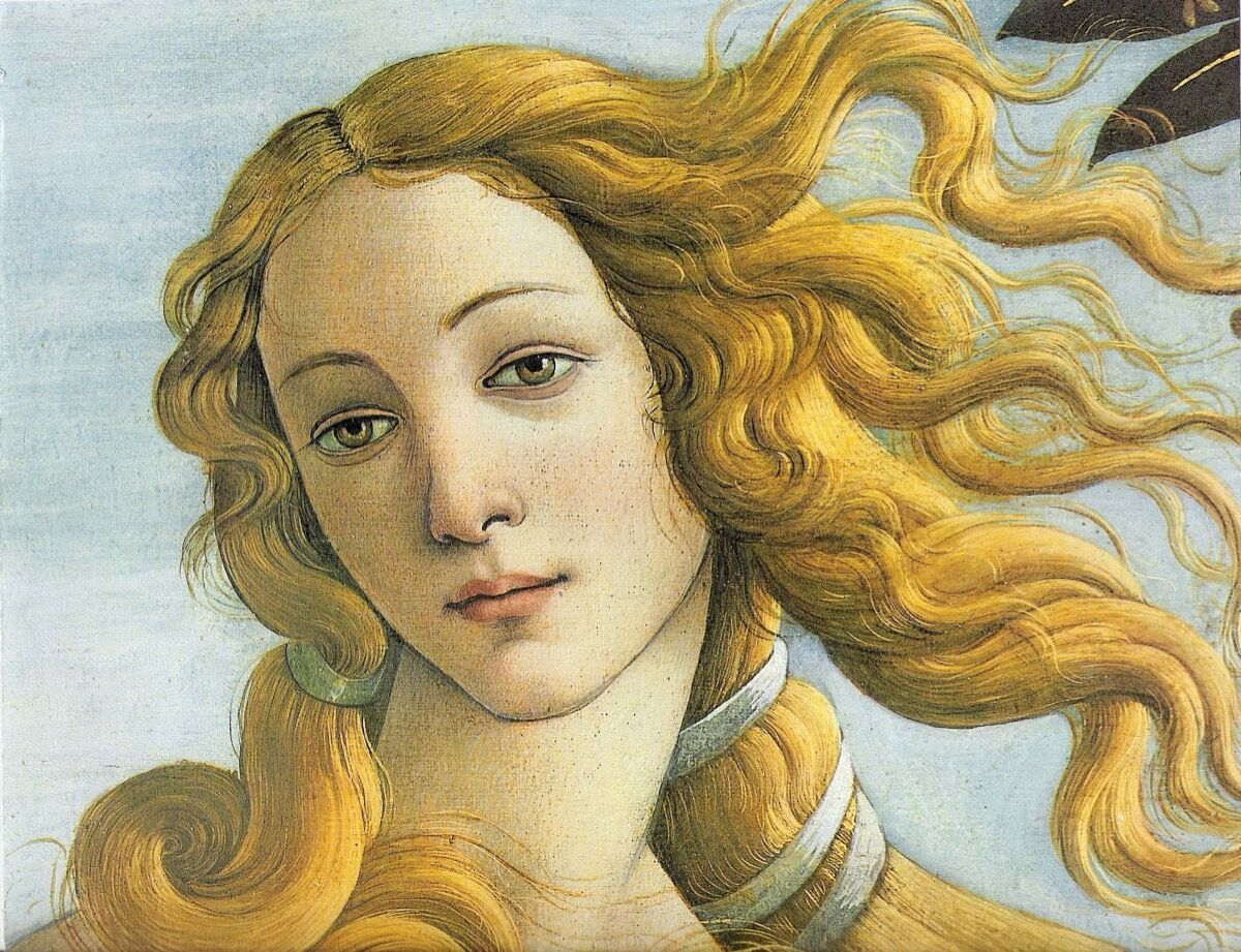 Detail of Sandro Botticelli, The Birth of Venus, ca. 1486. Image via Wikimedia Commons.