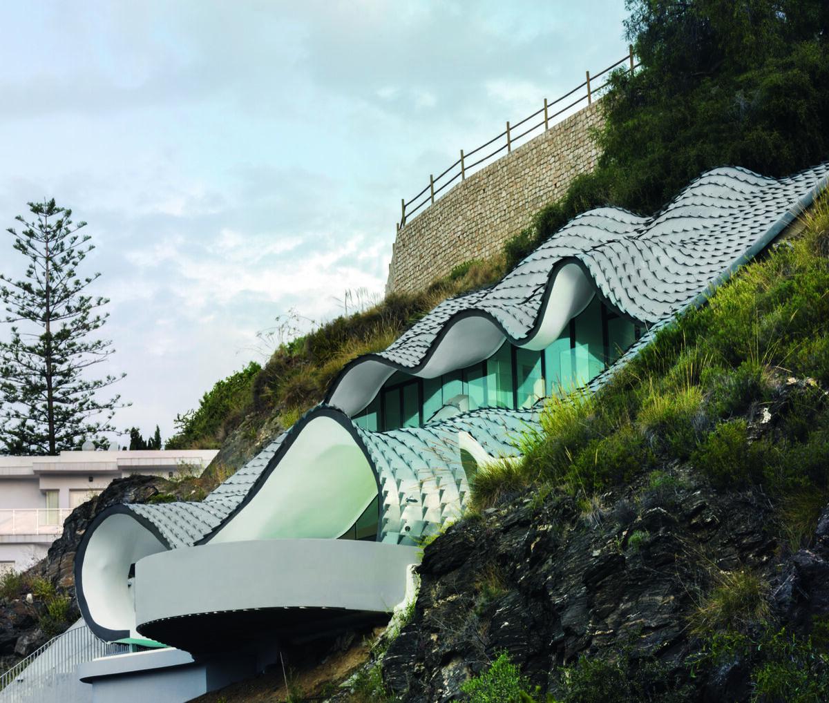 Gilbartolome Architects, The House on the Cliff, 2015, Granada, Spain. Photo by Jesus Granada. Courtesy of Phaidon.