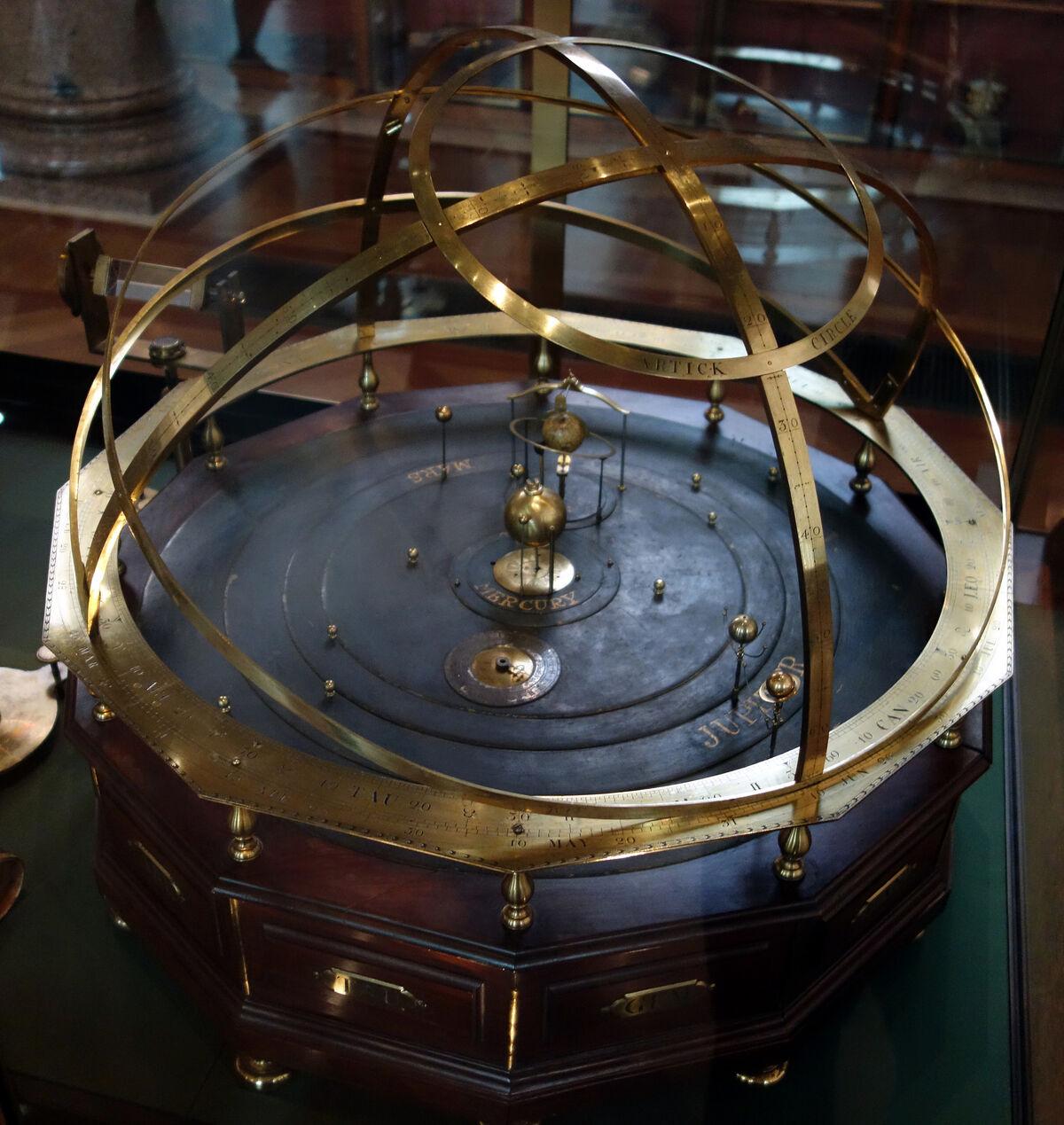 Orrery, c. 1750. Science Museum, London. Photo by Steven Zucker, via Flickr.