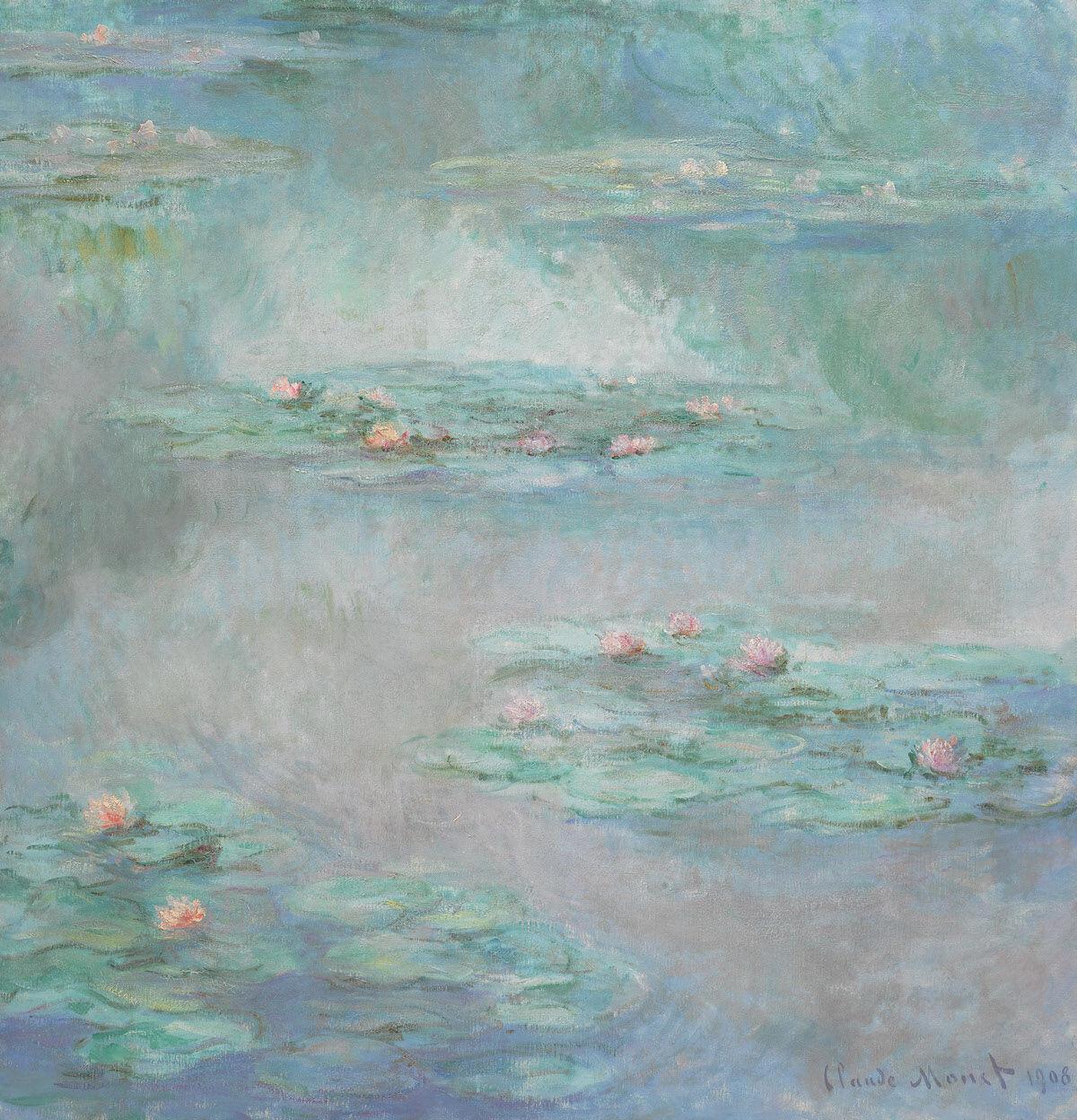 Claude Monet, Nymphéas, 1908, oil on canvas. Est. £25 million–35 million. Courtesy Sotheby's.