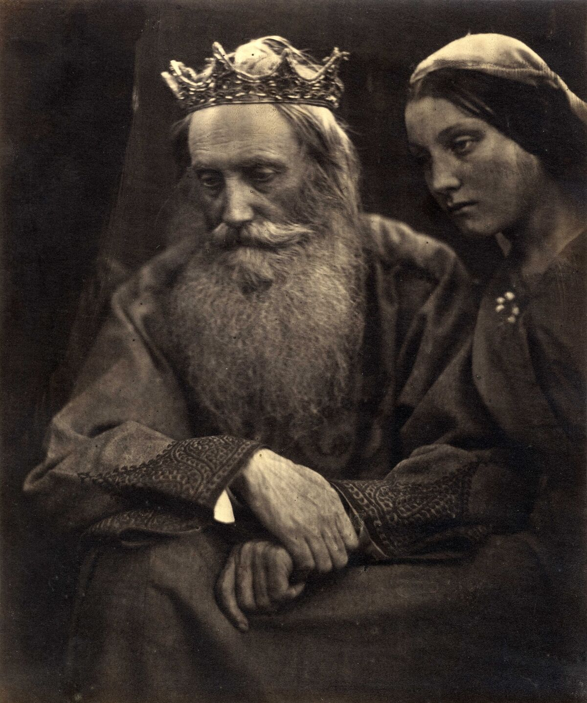 Julia Margaret Cameron. King David and Bathsheba (Henry Taylor and Mary Hillier), 1869. Courtesy of The Barnes Foundation, Michael Mattis and Judy Hochberg.