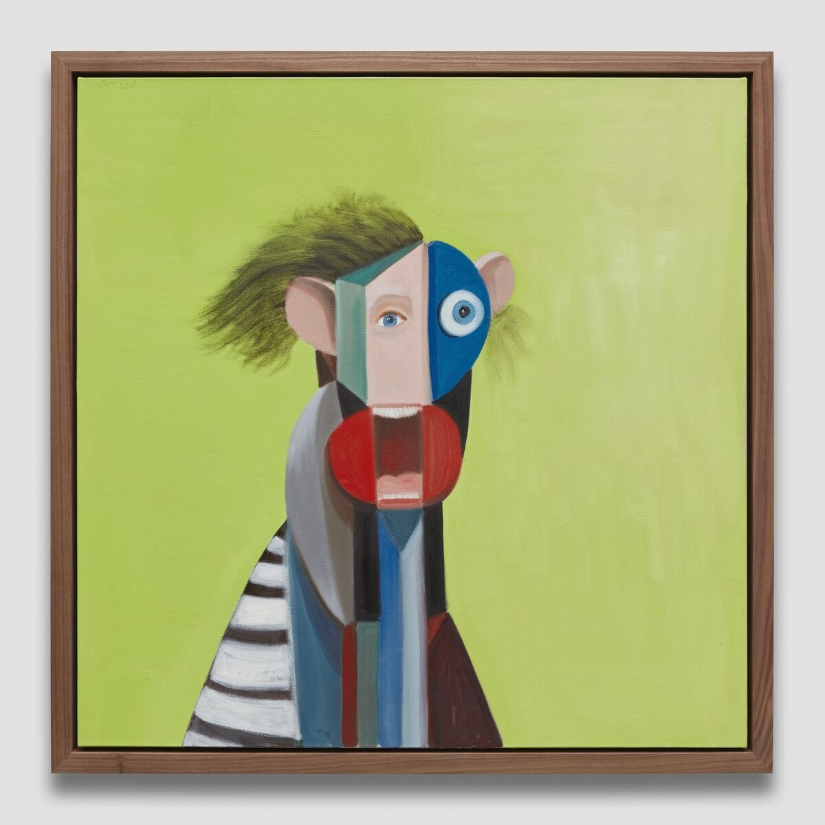 George Condo, Boy in Striped Shirt, 2011. © George Condo. Photo by Matt Kroening. Courtesy of the Artist and Almine Rech.