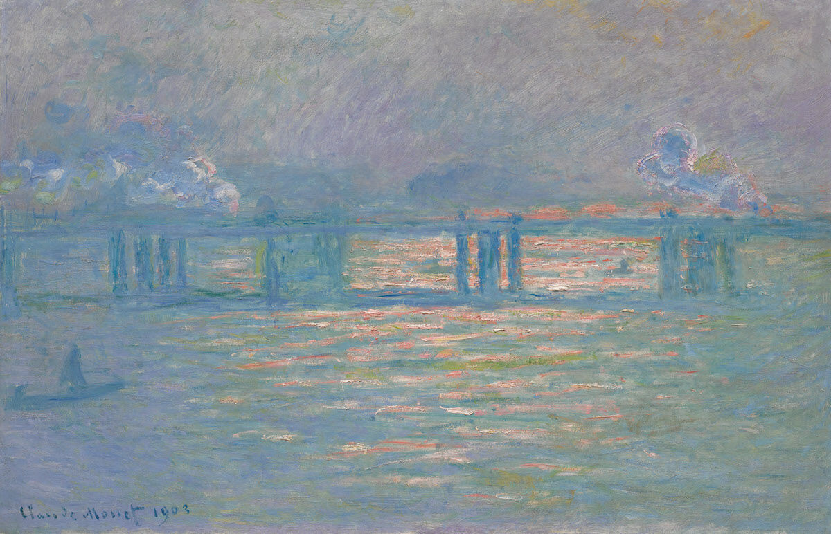 Claude Monet, Charing Cross Bridge, 1903. Sold for $27.6 million. Courtesy of Sotheby's.