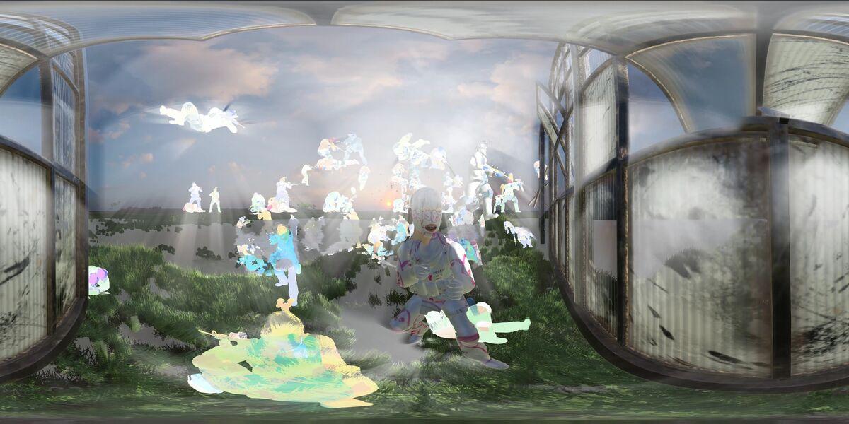 Rachel Rossin, Man Mask  (VR still), 2017. Courtesy of the artist.
