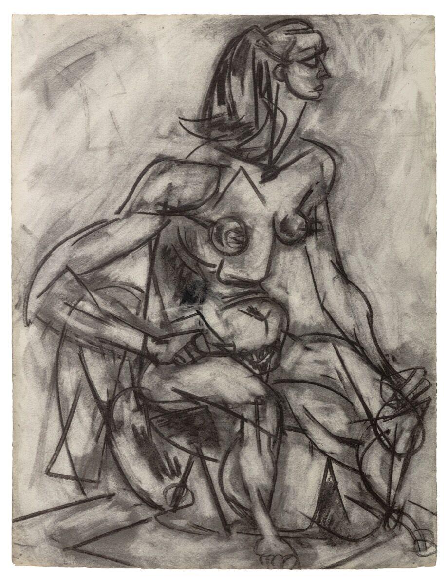 Lee Krasner, Nude Study from Life, 1940. © 2021 Pollock-Krasner Foundation /  Artists Rights Society (ARS), New York. Courtesy of Kasmin.