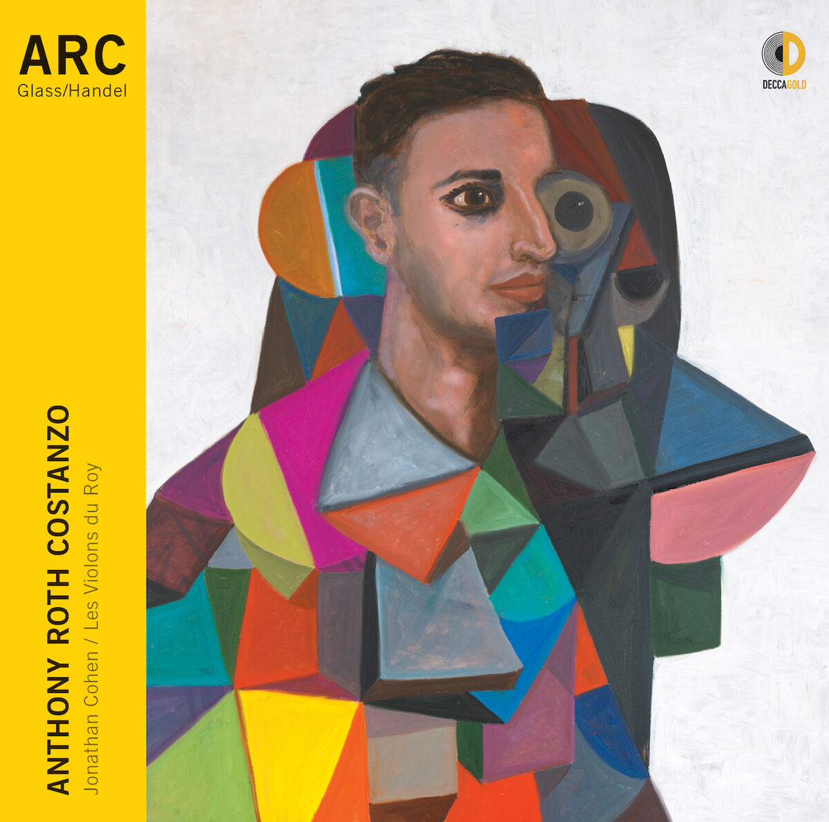 The cover of Anthony Roth Costanzo's new album, ARC. Courtesy Decca Gold.