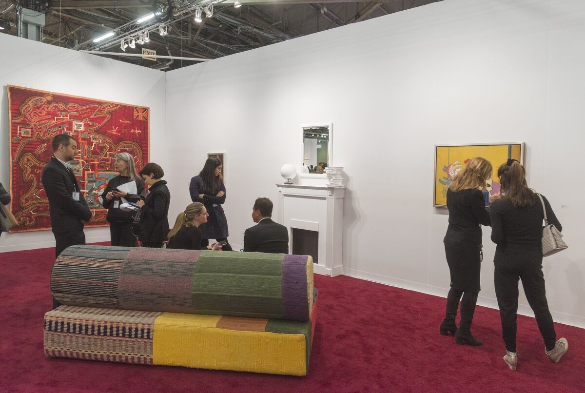 Installation view of Victoria Miro's booth at The Armory Show, 2018. Photo by Adam Reich for Artsy.