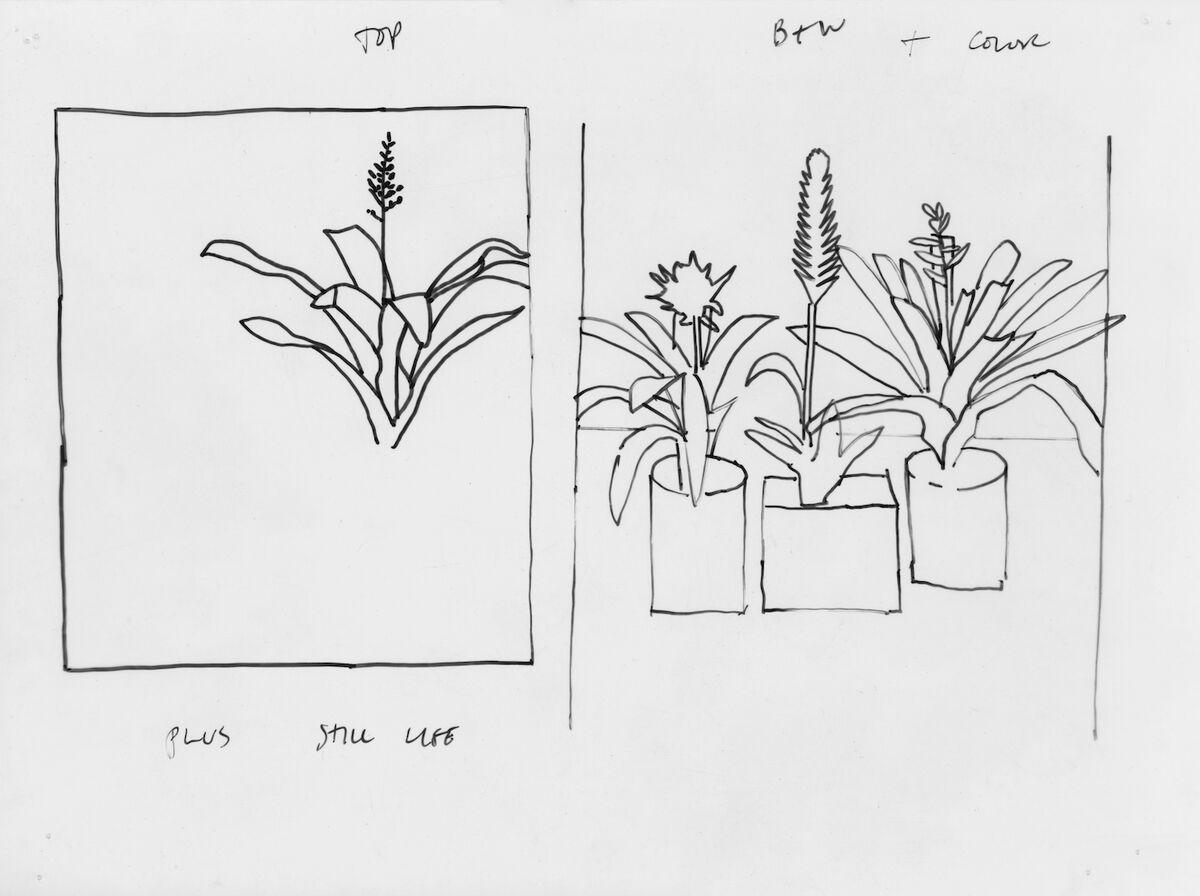 Image of Jonas Wood's notes. Courtesy of Wood Kusaka Studios.