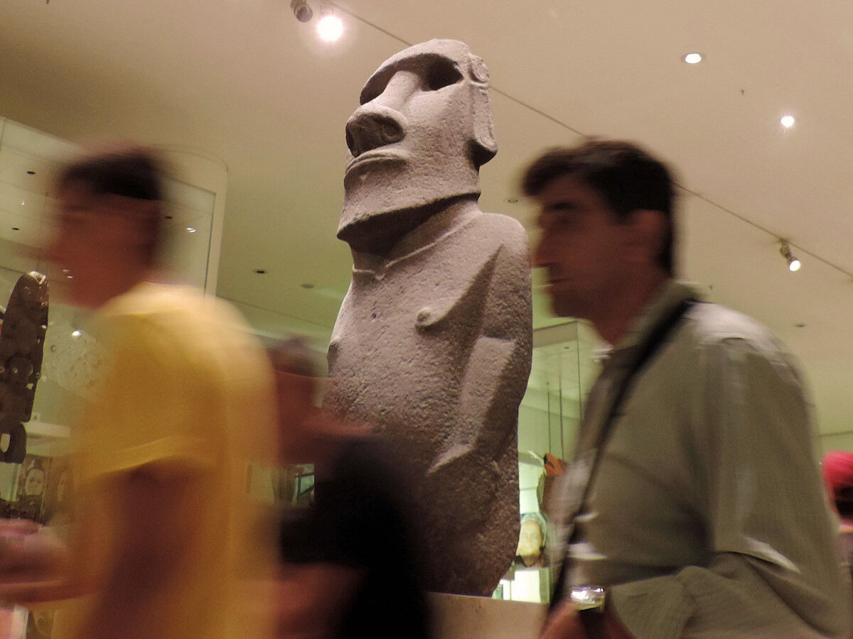 An Easter Island sculpture at the British Museum. Photo by Dun.can, via Flickr.