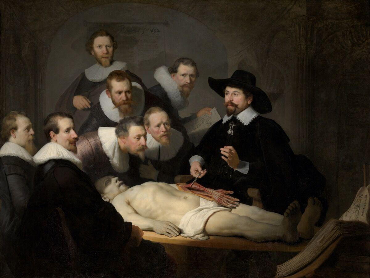 Rembrandt van Rijn, The Anatomy Lesson of Dr Nicolaes Tulp, 1632. Courtesy of Mauritshuis, The Hague.