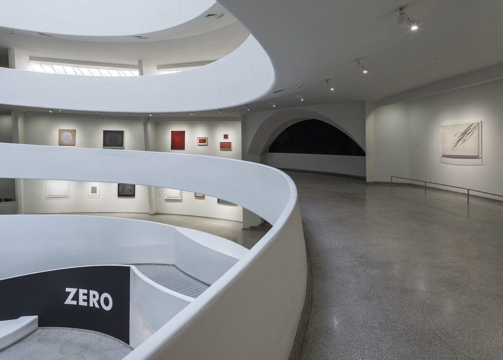 """Install shot from""""ZERO: Countdown to Tomorrow, 1950s-60s"""":Photo: David Heald © Solomon R. Guggenheim Museum, New York."""