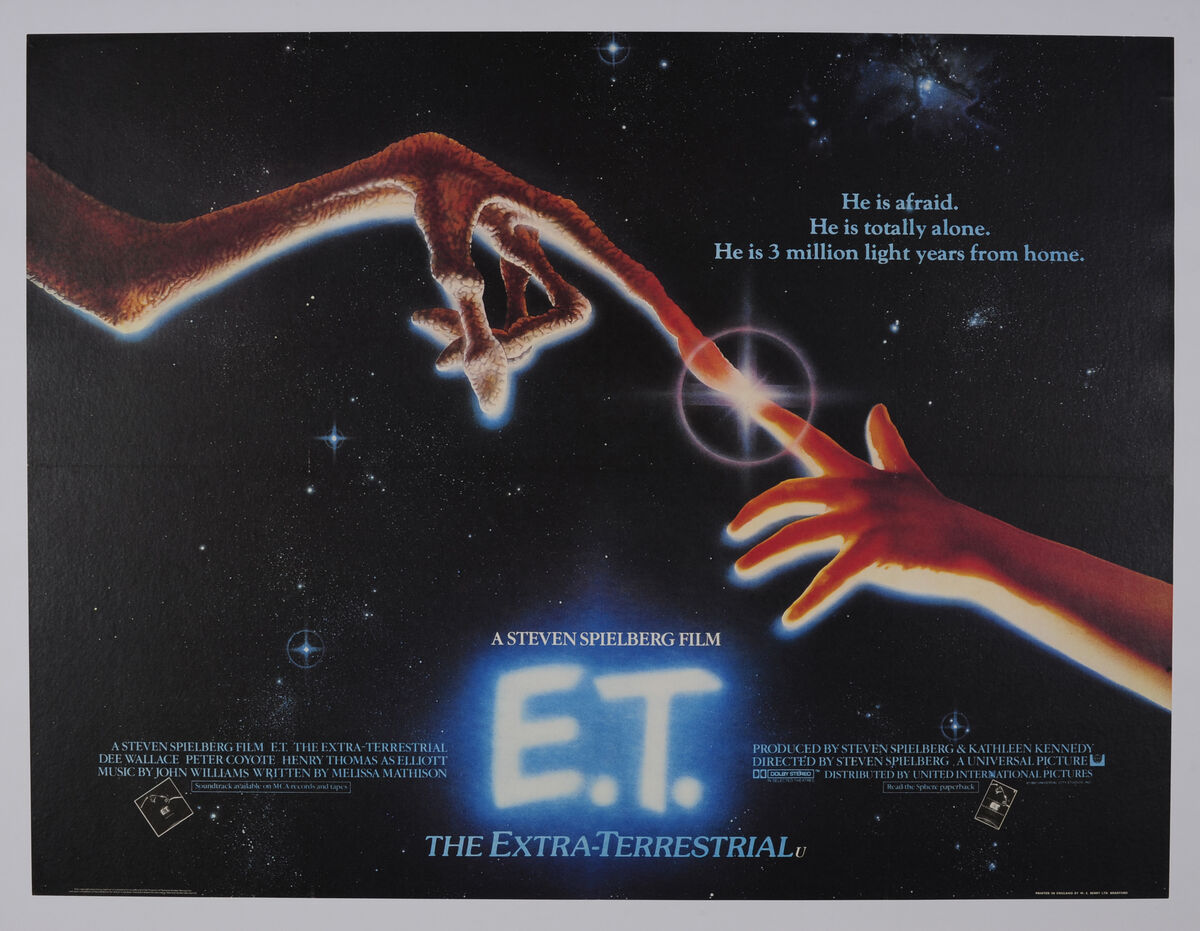 E.T. move poster. Courtesy of the Willis Museum.